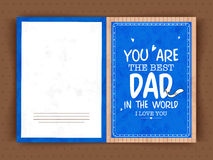Happy Father's Day celebration greeting card. Stock Photo