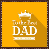 Happy Fathers Day celebration greeting card. Royalty Free Stock Photos