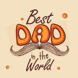 Happy Fathers Day celebration greeting card. Stock Photography