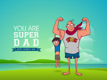Happy Fathers Day celebration with man and his kid. Stock Images