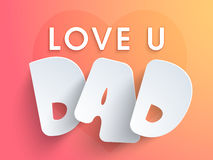 Happy Fathers Day celebration poster, or banner. Royalty Free Stock Images