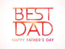 Happy Fathers Day celebration with stylish text. Stock Photography