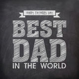 Happy fathers Day celebration with stylish text. Stock Images