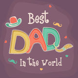 Happy Fathers Day celebration with stylish text. Royalty Free Stock Photography