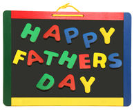 Happy Father's Day On Chalkboard Royalty Free Stock Photo