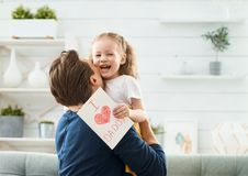 Happy father`s day royalty free stock photo