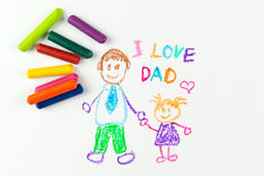Happy father's day Royalty Free Stock Image
