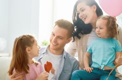 Happy father`s day royalty free stock photography