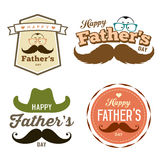 Happy Father's day colorful labels logo set royalty free illustration