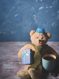Happy father's day concept background with teddy bear dad Stock Photography