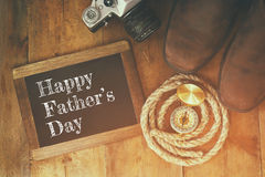 Happy father's day concept. vintage filtered and toned Stock Image