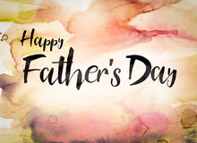 Happy Father's Day Concept Watercolor Theme Stock Image