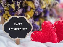 Happy father`s day concept. wooden tag with HAPPY FATHER`S DAY t stock photo