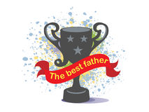 Happy Father's Day cup. On a colorful background Royalty Free Stock Image