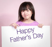 Happy father's day with a cute little girl. Stock Photography