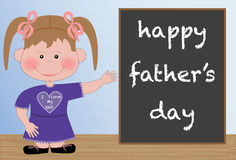 Happy Father's Day from Daughter Stock Images