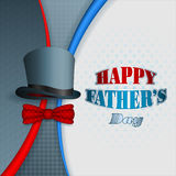 Happy Father's day design background with top hat Royalty Free Stock Image