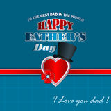 Happy Father's day design background with top hat Royalty Free Stock Photo