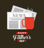 Happy father's day design Stock Image