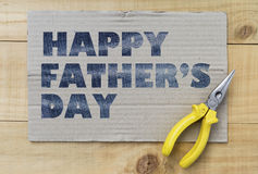 Happy Father's day design text. On paper background royalty free stock photography