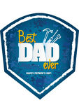 Happy Father's Day Design Vector. Royalty Free Stock Photos