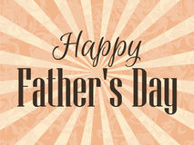 Happy Father`s Day. A festive poster with rays. Vector Royalty Free Stock Images
