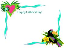 Happy Father's Day Frame Royalty Free Stock Image