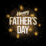 Happy Father`s Day golden glitter background banner. Happy Father`s Day banner with gold glitter. Vector illustration. Elements are layered separately in vector Royalty Free Stock Photography