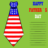 Happy Father's Day greeting card design with necktie Stock Images