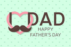 Happy Father's Day greeting card. Happy Father's Day poster. I love you dad. Vector. Stock Photography