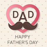 Happy Father's Day greeting card. Happy Father's Day poster. I love you dad. Vector. Happy Father's Day greeting card. Happy Father's Day poster. I love you dad Royalty Free Stock Images
