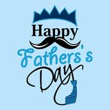 Happy Fathers day greeting card. Happy Father`s day greeting card Stock Photos