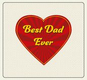 Happy Father's Day Greeting Card Stock Image