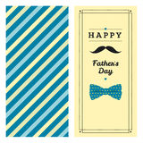 Happy father's day greeting card with pattern Stock Photo