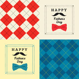 Happy father's day greeting card with pattern Stock Photos
