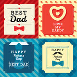 Happy father's day greeting card with pattern Royalty Free Stock Photography