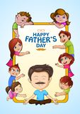 Happy Father`s Day greetings background. Vector illustration of Happy Father`s Day greetings background Stock Images