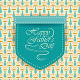 Happy Father`s Day greetings background. Vector illustration of Happy Father`s Day greetings background Stock Photos