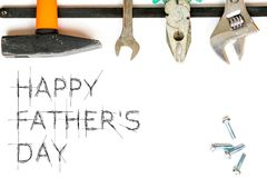 Happy father`s day. Greetings card Stock Photos