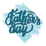 Happy Father`s Day on hand drawn background in memphis style royalty free illustration