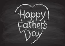 Happy father's day hand-drawn lettering Stock Images