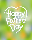 Happy father's day hand-drawn lettering Stock Photography