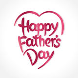 Happy father's day hand-drawn lettering Royalty Free Stock Images