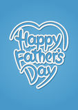 Happy father's day hand-drawn lettering Royalty Free Stock Photos