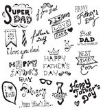 Happy Father's Day hand drawn typography Royalty Free Stock Photography