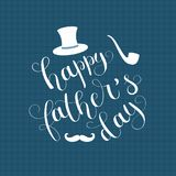 Happy Father`s Day vector illustration. Royalty Free Stock Photos