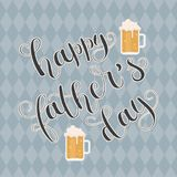 Happy Father`s Day vector hand lettering Stock Images