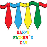 Happy Father's Day, holiday card with ties Stock Photo