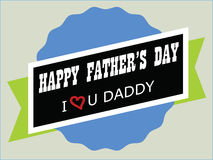 Happy Fathers Day illustration design Stock Photos