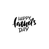 Happy Father's Day inscription. Vector illustration. Father's Day greeting card logo template. Happy fathers day lettering. Royalty Free Stock Image